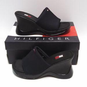 Tommy Hilfiger Wedge Sandals Slip On Size 8.5